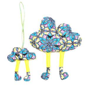 Подушки декоративные, мама и малыш, декорации для детской, мягкие игрушки, облачко